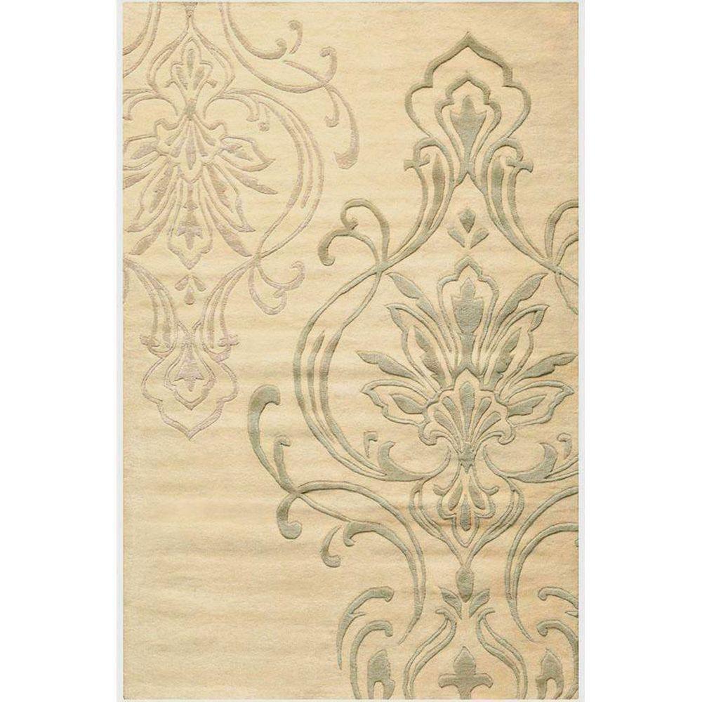 Home Decorators Collection Romantica Beige 5 ft. 3 in. x 8 ft. 3 in. Area Rug
