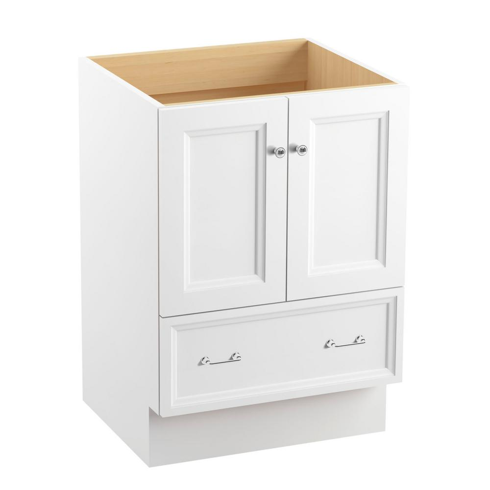 kohler bathroom vanities cabinets kohler damask 24 in vanity cabinet in linen white with 22365