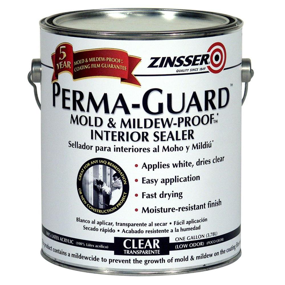 Zinsser 1 Gal Perma Guard Mold And Mildew Proof Acrylic Clear Interior Primer And Sealer Case