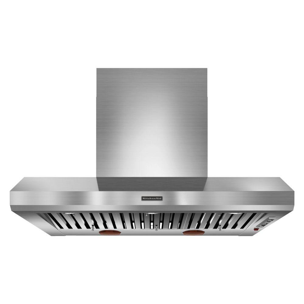 Remarkable Kitchenaid 48 In Wall Mount Range Hood In Stainless Steel Blower Sold Separately Download Free Architecture Designs Lectubocepmadebymaigaardcom