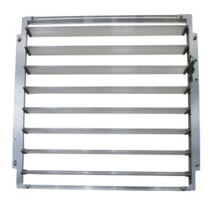 Palram Side Louvre Window 2 ft. W x 0.2 ft. D x 2 ft. L Silver for Palram Greenhouses by Palram