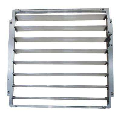 Side Louvre Window 2 ft. W x 0.2 ft. D x 2 ft. L Silver for Palram Greenhouses