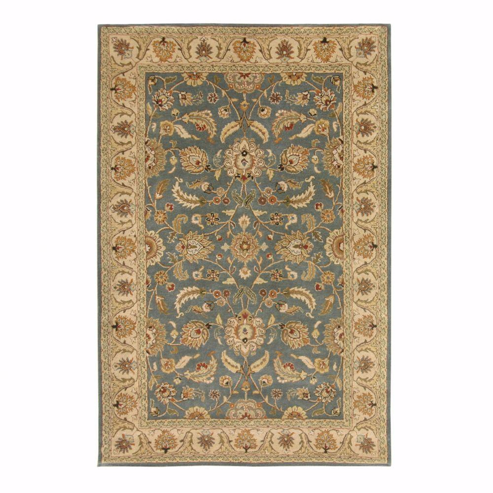 Home Decorators Collection Toulouse Blue/Beige 5 ft. 3 in. x 8 ft. 3 in. Area Rug