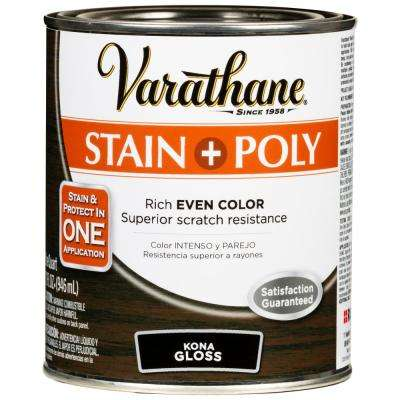 1 Qt. Kona 450 Gloss Oil-Based Interior Wood Stain and Polyurethane (2-Pack)