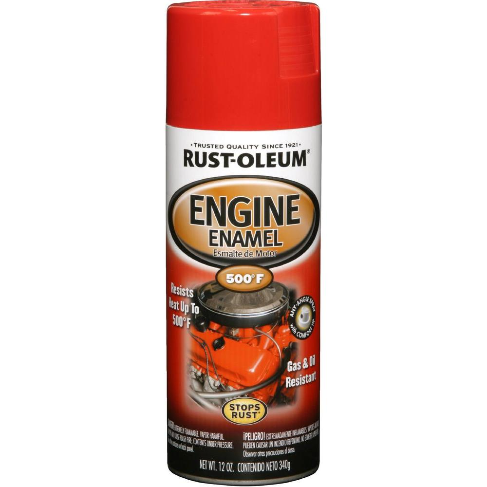 12 oz. 500 Degree Ford Red Engine Enamel Spray Paint (6-Pack)