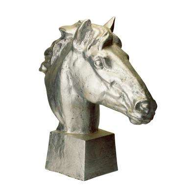 Gilded Age Horse Head Resin Statue