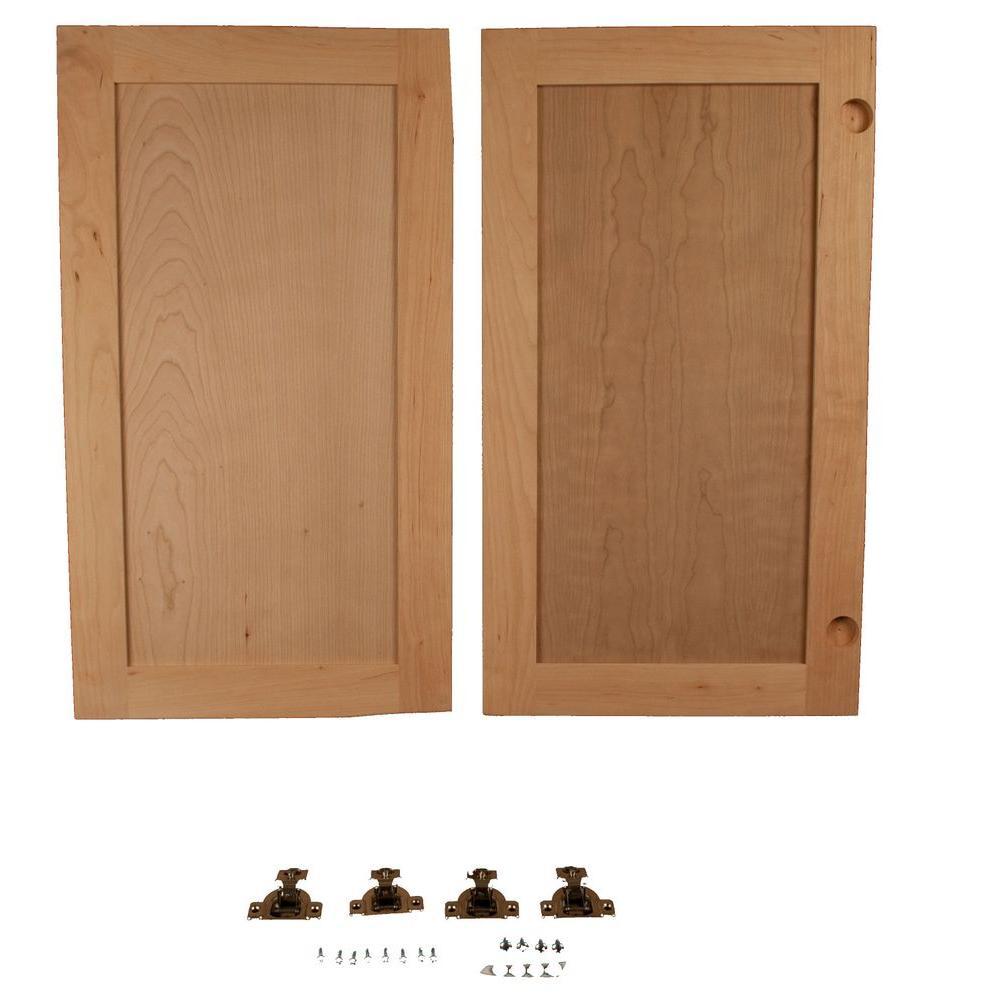 Red Oak Flat Panel Accessory Doors