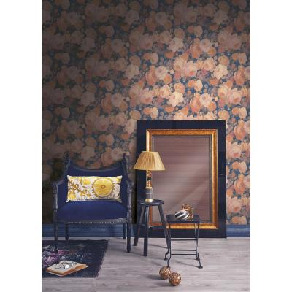 Lady Pink Floral Wallpaper Sample