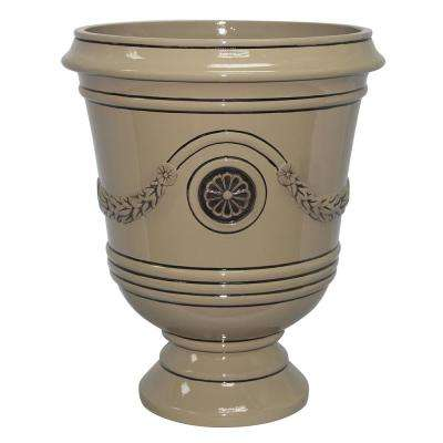 Porter 15.50 in. x 18 in. Chinchilla Resin Composite Urn