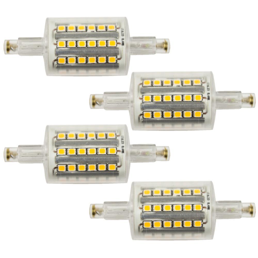 75-Watt Equivalent T3 LED Light Bulb Warm White (4-Pack)