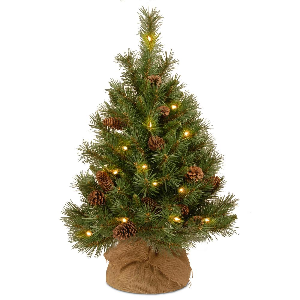 national tree company 36 in pine cone tree with battery operated warm white led lights