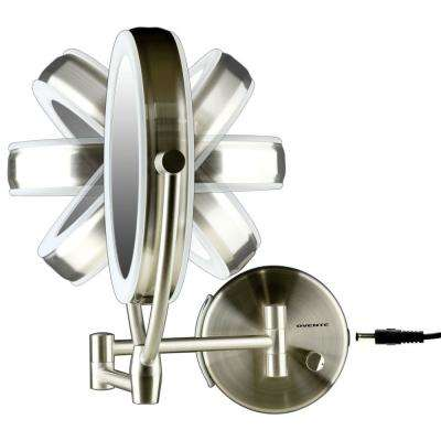 LED Lighted Wall Mount Mirror, Dual-Sided, Magnifying, Battery or USB Adapter Operated,1x or 10x Magnification