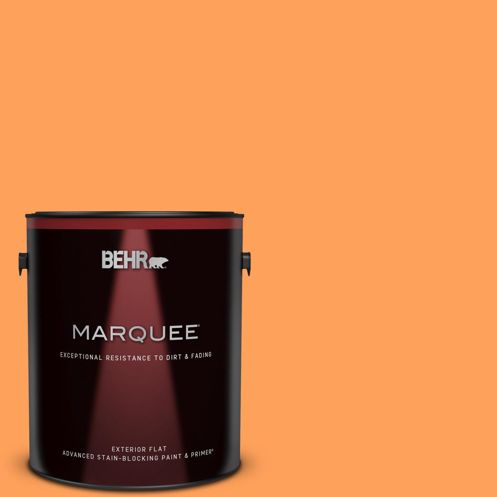 Behr Marquee 1 Gal T15 10 Clarified Orange Flat Exterior Paint And Primer In One 445301 The Home Depot