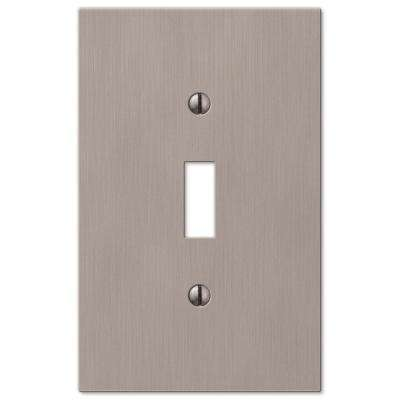 Barnard 1 Toggle Wall Plate - Brushed Nickel Cast