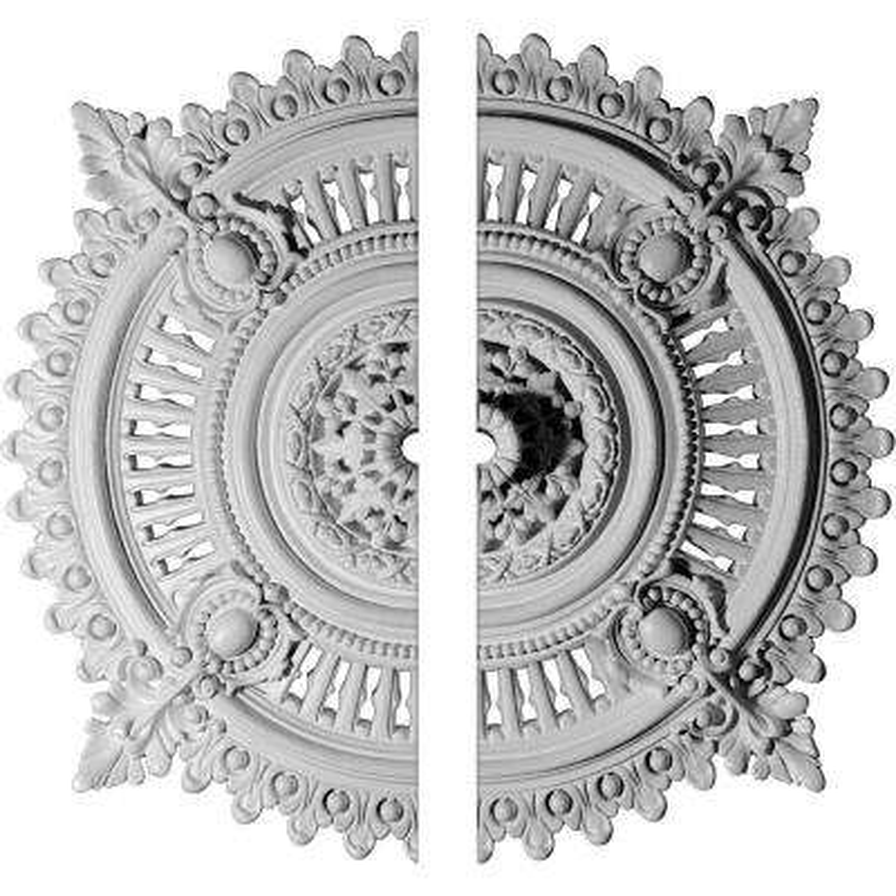 29-1/8 in. O.D. x 1-1/4 in. I.D. x 4 in. P Haylynn Ceiling Medallion (2-Piece)