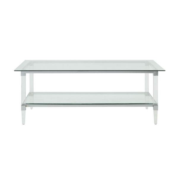 Acme Furniture Polyanthus Clear Acrylic, Chrome And Clear