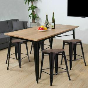 Cool Costway Copper Set Of 4 Metal Wood Counter Stool Kitchen Pdpeps Interior Chair Design Pdpepsorg