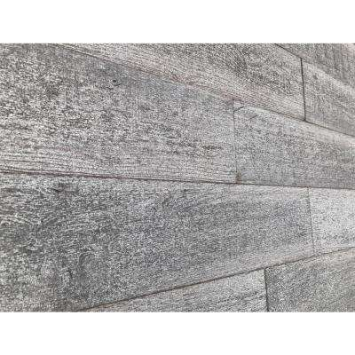 3D Barn Wood 1/4 in. x 4 in. x 24 in. Reclaimed Wood Decorative Wall Planks in Gray Color (10 sq. ft. / Case)