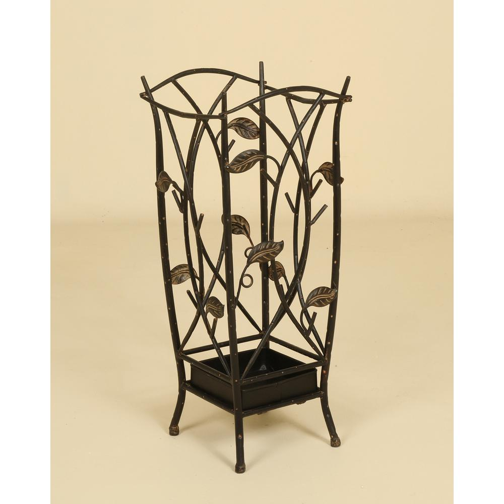 Oil-Rubbed Bronze Leaf Umbrella Stand