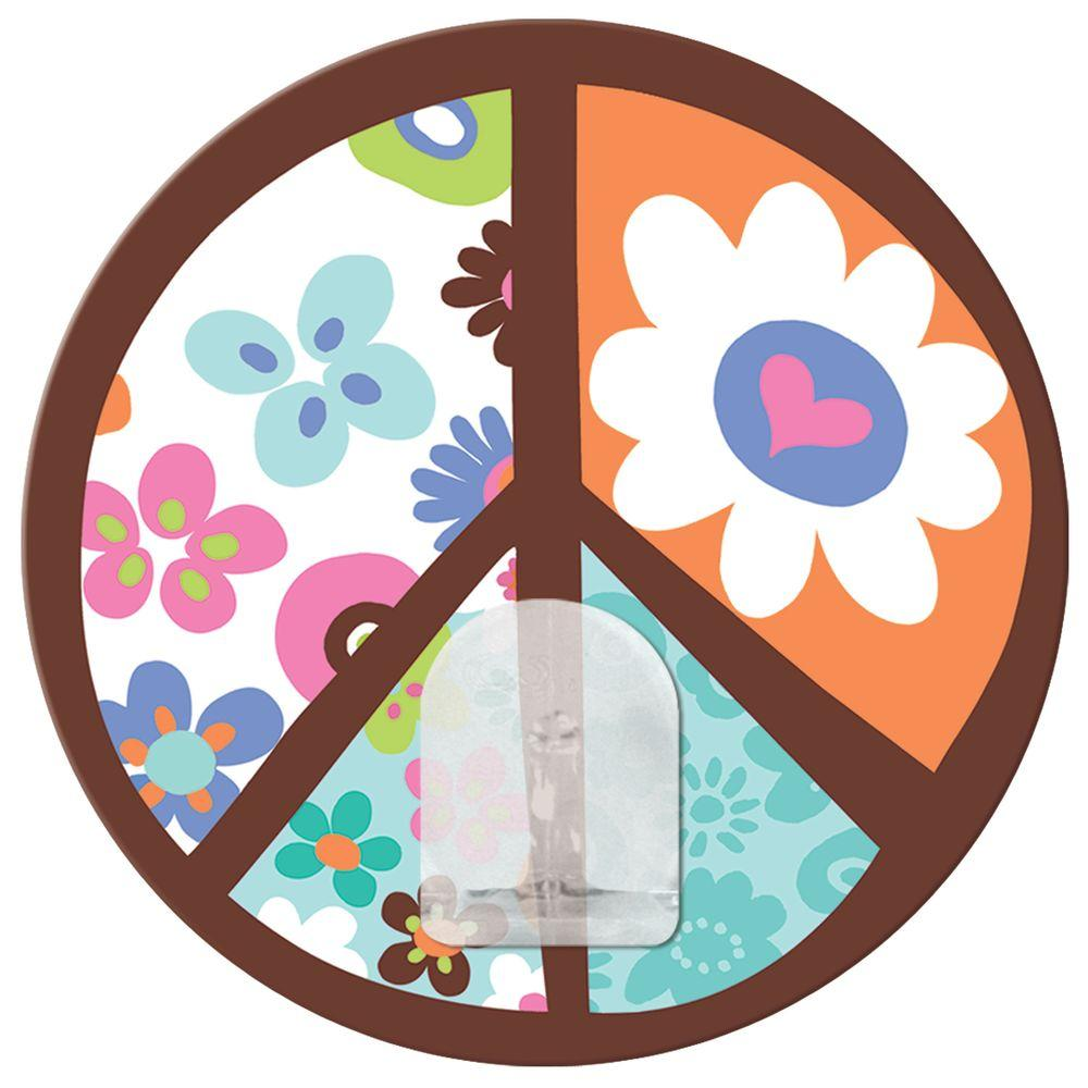 RoomMates 2.875 in. Peace Sign Magic Hook Wall Graphic