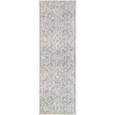 Vintage Minta Grey 3 ft. x 8 ft. Runner Rug