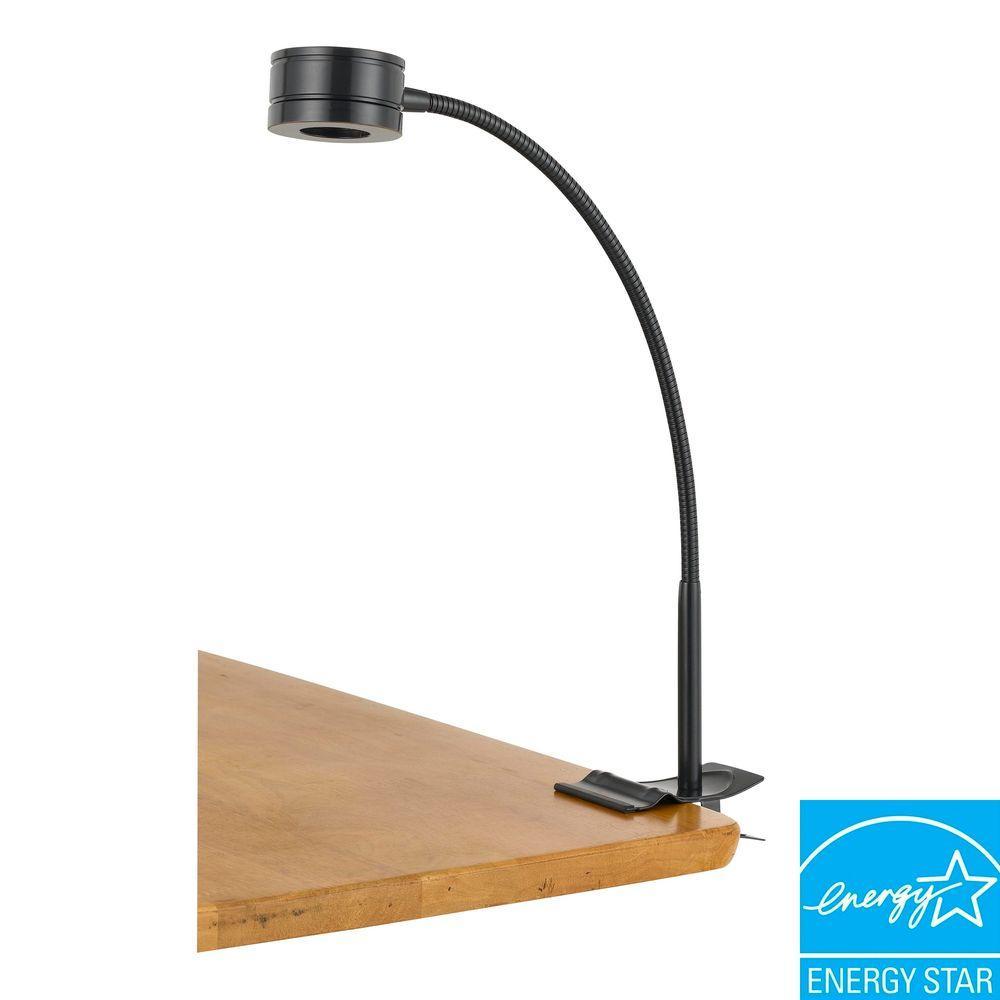 CAL Lighting 5 Watt LED Clip on Lamp in Dark Bronze-DISCONTINUED