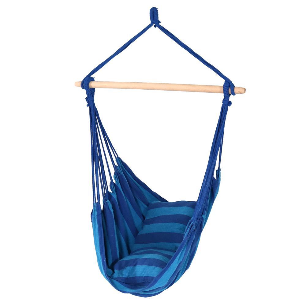 ec981903cd7d Sunnydaze Decor 3.5 ft. Fabric Hanging Hammock Swing with Two ...