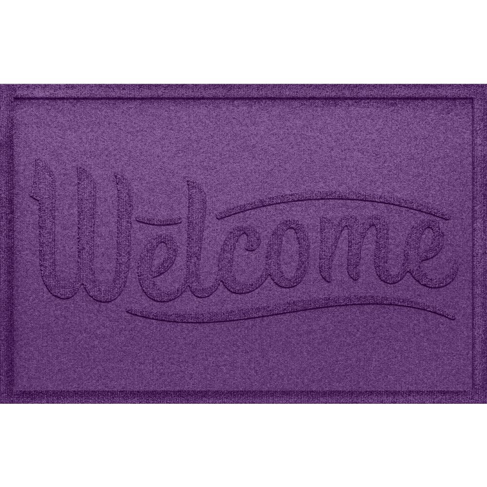 Aqua Shield Simple Welcome Purple 24x36 Polypropylene Door