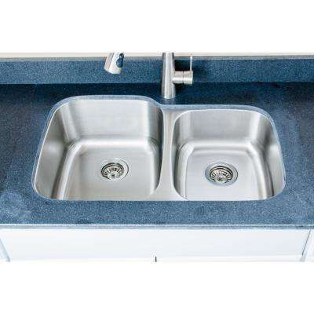 The Craftsmen Series Undermount 32 in. Stainless Steel 60/40 Double Bowl Kitchen Sink