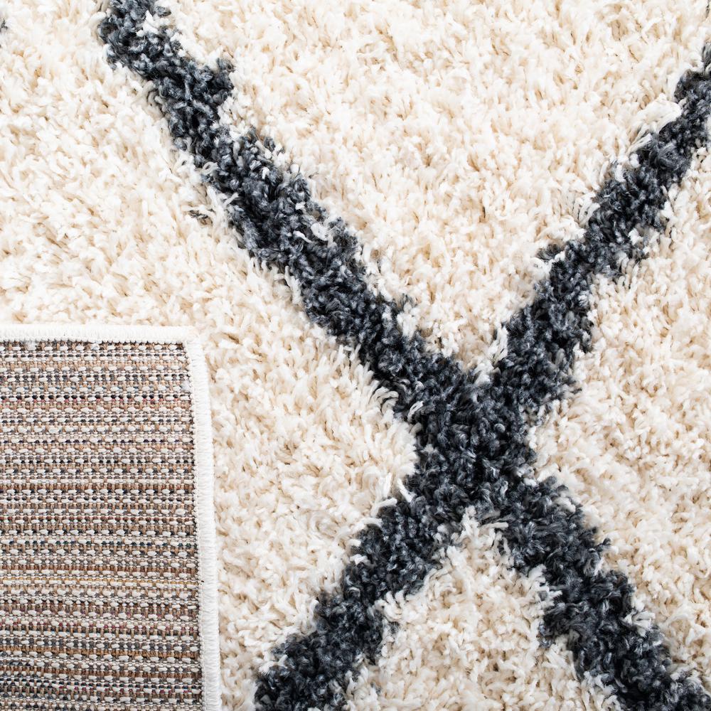 Safavieh Venus Shag Ivory Dark Gray 8 Ft X 10 Ft Area Rug Vns682b 8 The Home Depot