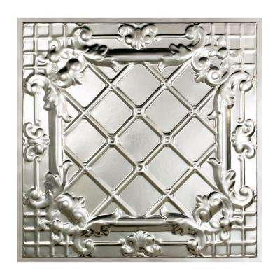 Toledo 2 ft. x 2 ft. Lay-in Tin Ceiling Tile in Clear
