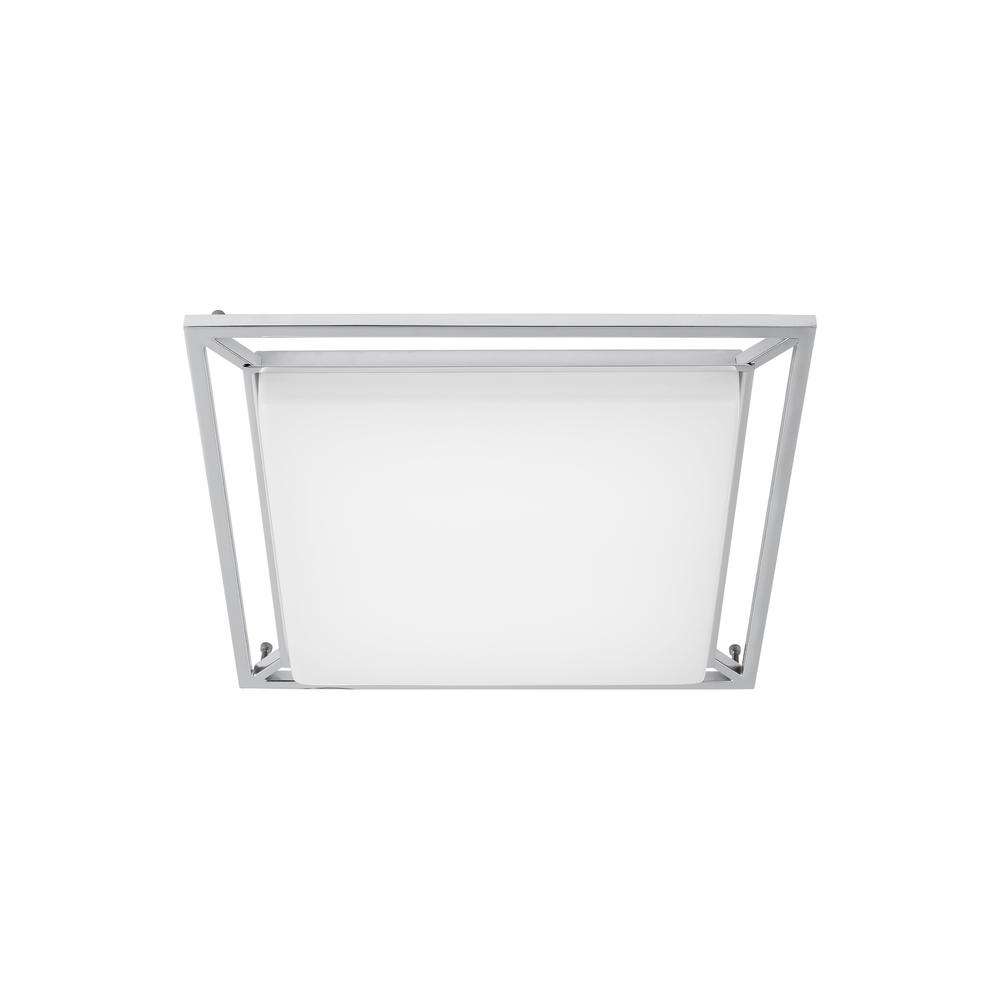 LBL Lighting Perret 20-Watt Polished Chrome Integrated LED Flush Mount Although familiar in style the Perret ceiling fixture by LBL Lighting is nothing like its predecessors in that it boast modernized features. An integrated 3000K LED generously illuminates any space with the help of the acrylic diffuser. The Perret is available in 2 on-trend finish options, Satin Nickle and Chrome, each finish further enhances the modern simplicity of this fixture. Available in two distinct sizes, 10 and 14, the Perret is ideal for bathroom lighting, hallway lighting, bedroom lighting and countless residential and commercial lighting applications.