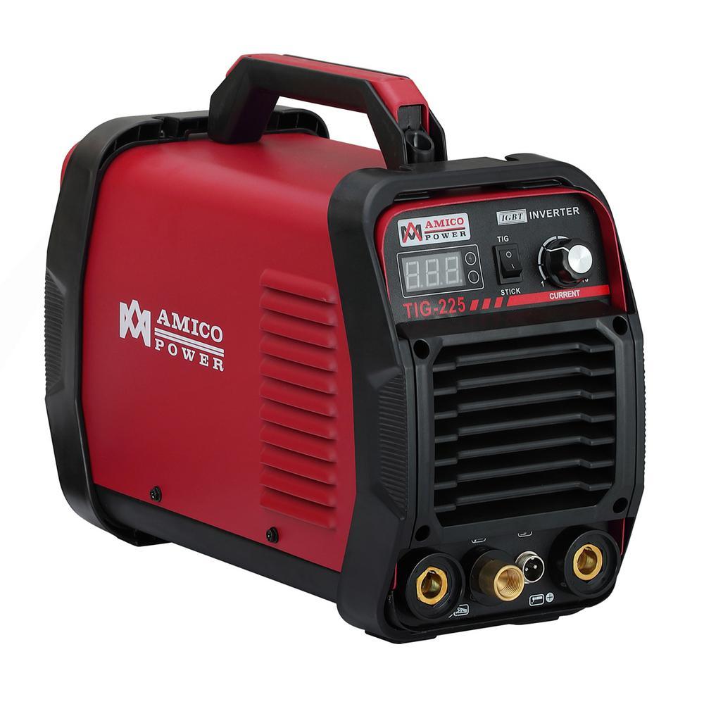 amico 220 amp high frequency tig torch/stick/arc dc inverter welder 115/