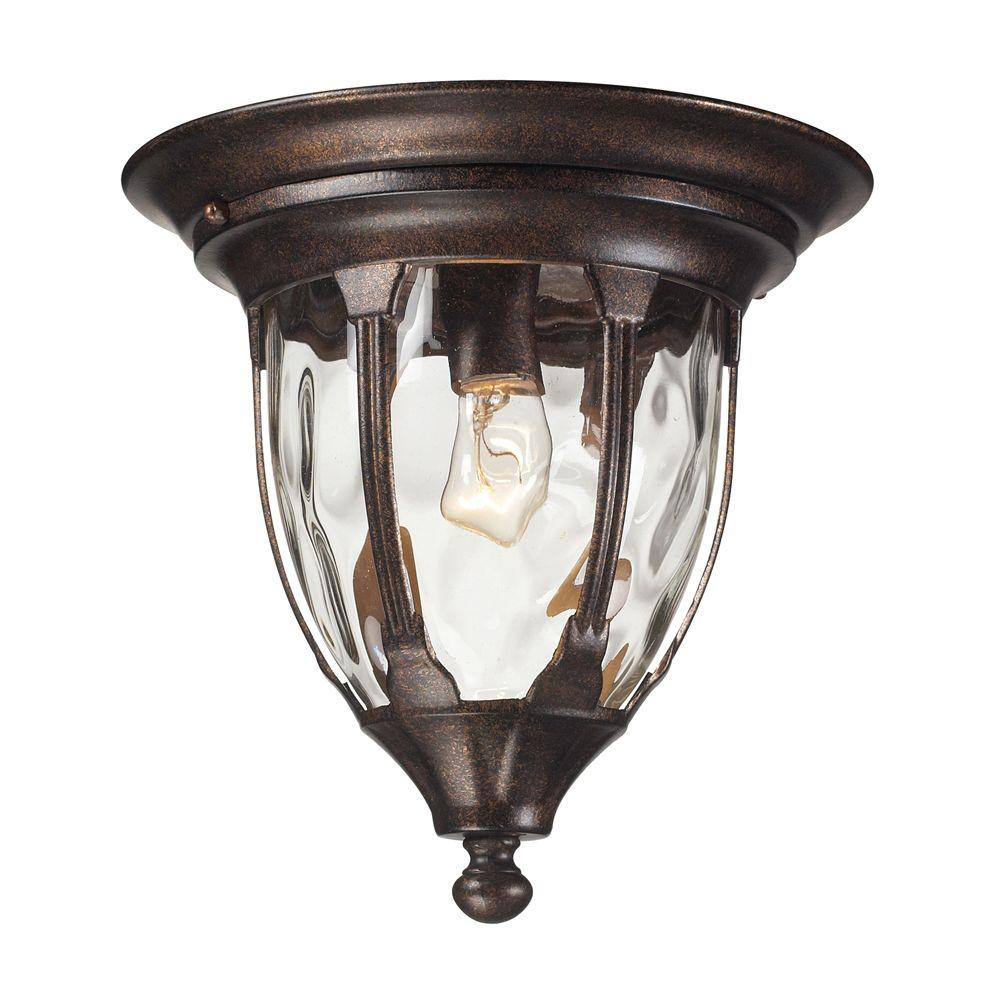 Home Decorators Collection Coleville 1 Light Glendale Bronze Outdoor Flushmount 23199 The Home
