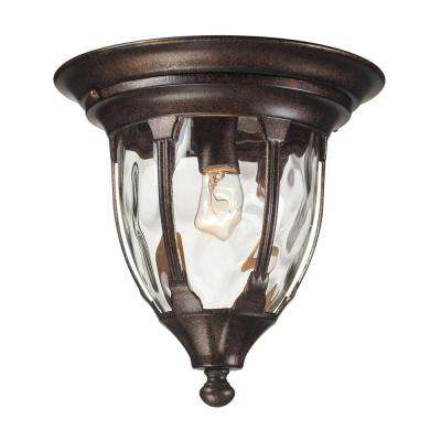 Glendale 1-Light Regal Bronze Outdoor Flushmount