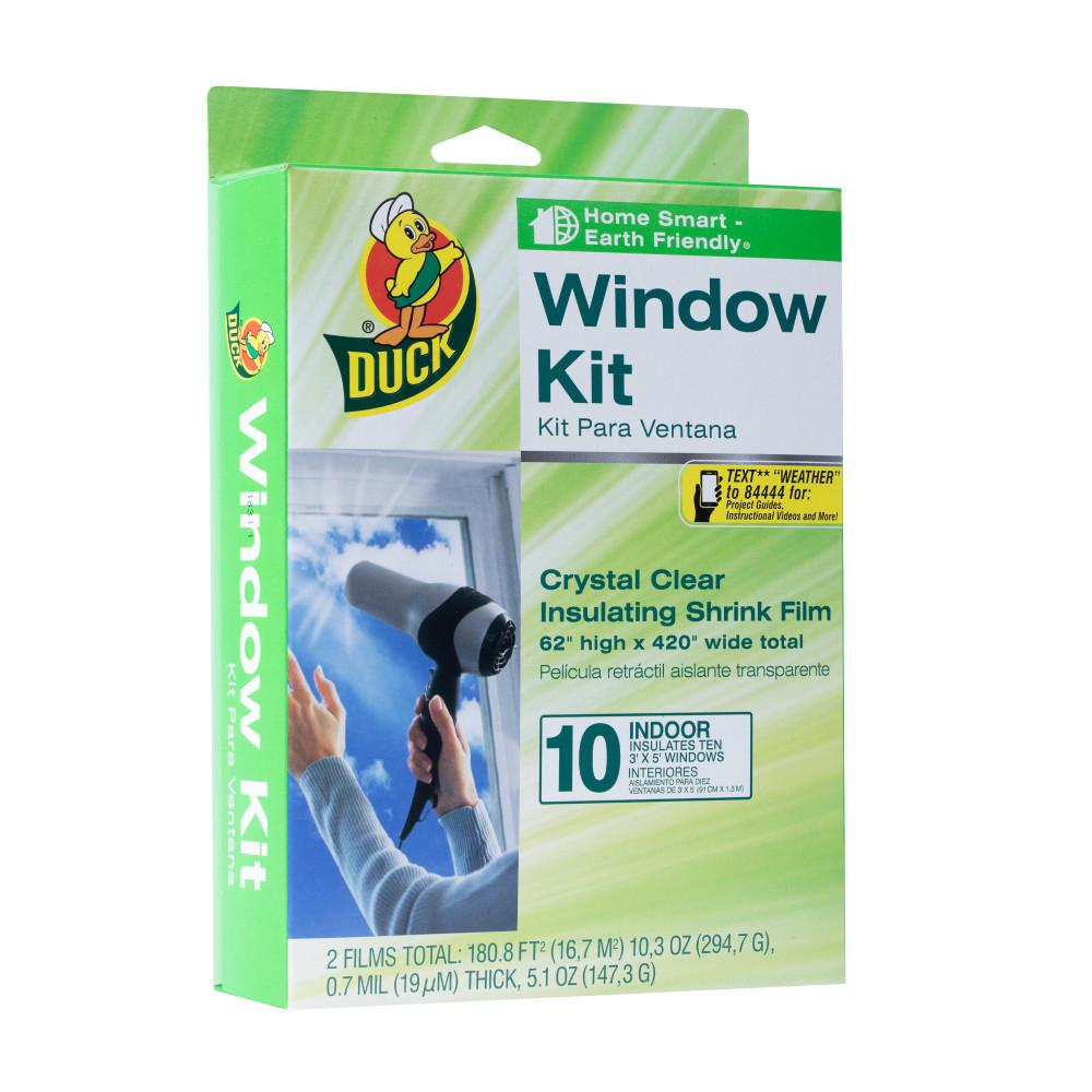 Duck 62 in. x 420 in. Crystal Clear Window Kit Shrink Film (10-Pack)
