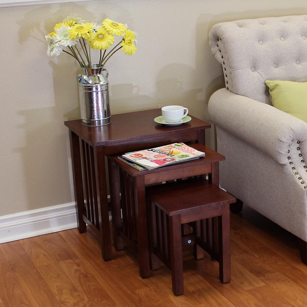 DonnieAnn Hollydale Chestnut Nesting End Tables (Set Of 3)