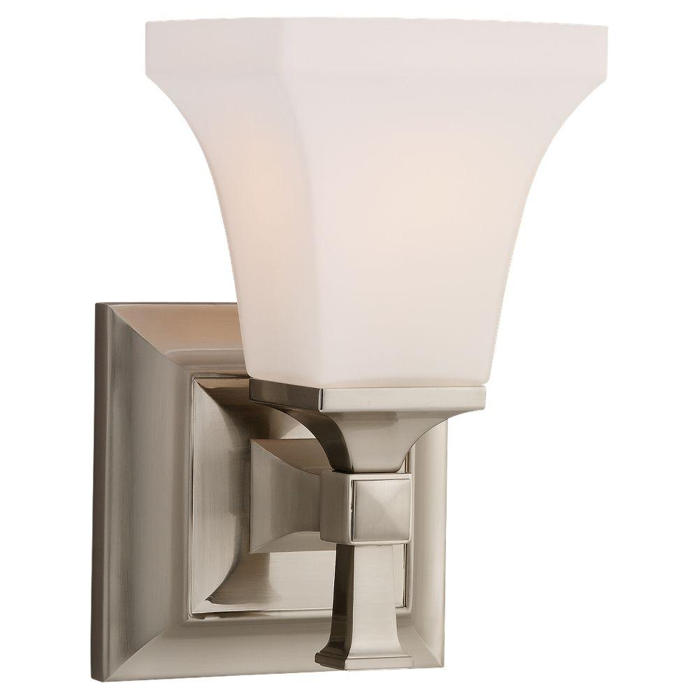 Sea Gull Lighting Melody 1-Light Brushed Nickel Sconce