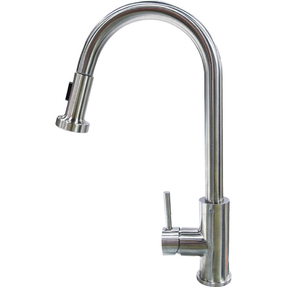 Lippert Flow Max RV Kitchen Faucet   Pull Down Sprayer Shaped