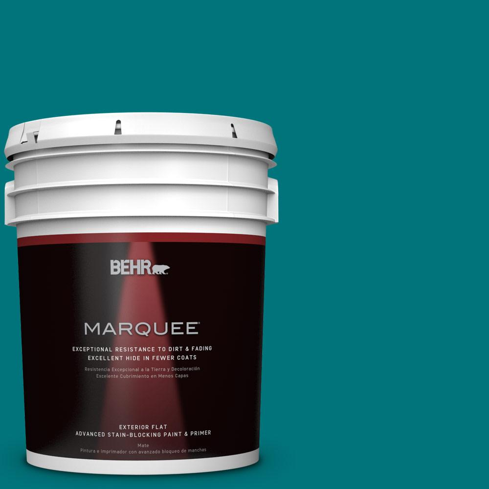 5 gal. #T15-3 Essential Teal Flat Exterior Paint