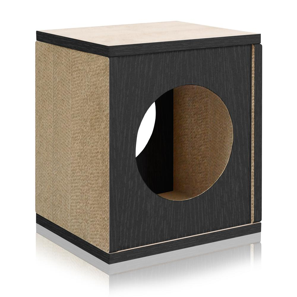 Eco Zboard Black Cat Scratcher Cube Post And House