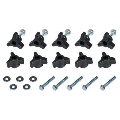 1/4-20 in. x 1-1/2 in. Bolts, Washers, T-Track Knobs (10-Set)