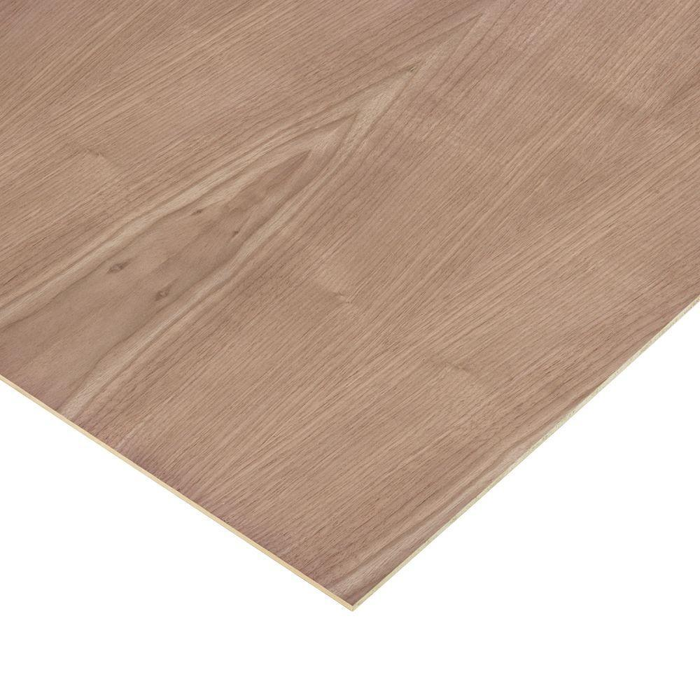 Columbia Forest Products 1/4 in. X 4 ft. X 4 ft. Walnut Plywood 2-Sided