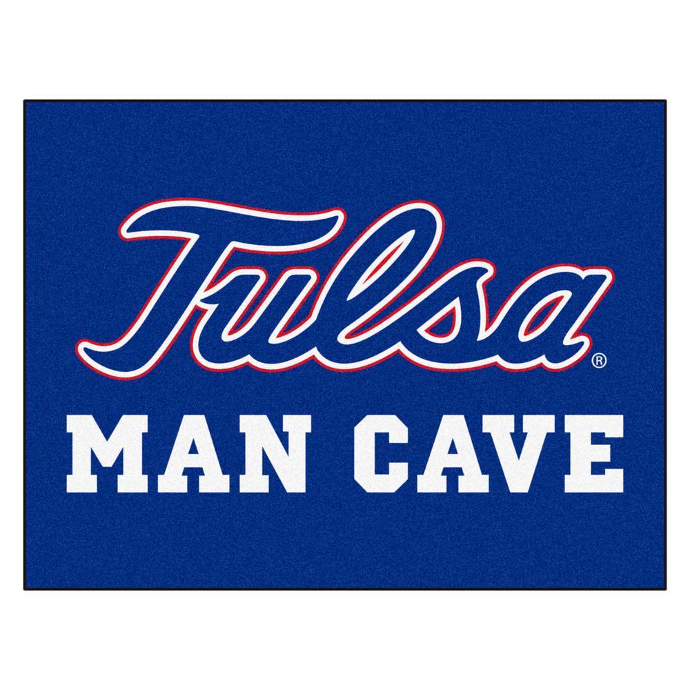 NCAA University of Tulsa Blue 3 ft. x 4 ft. Indoor Man Cave All Star Area Rug