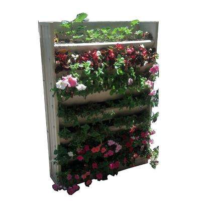 33.1 in. W x 8.3 in. D x 45.3 in. H Resin Living Wall Vertical Garden Planter