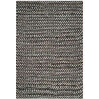 Manhattan Turquoise/Gray 6 ft. x 9 ft. Area Rug