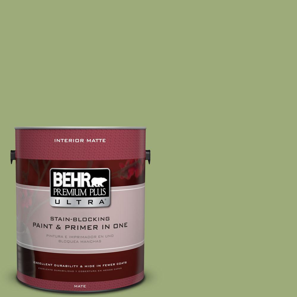 1 gal. #BIC-12 Siamese Green Matte Interior Paint