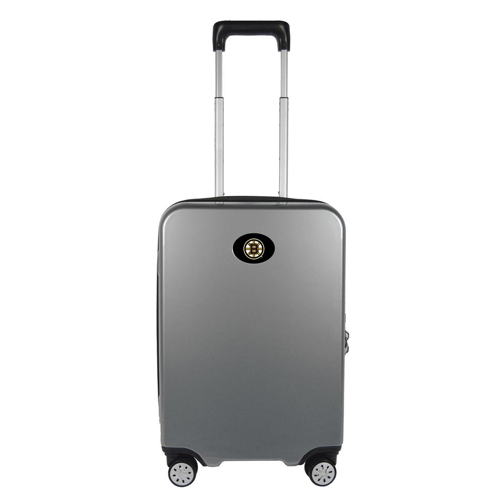 a12ac193b388 Denco NHL Boston Bruins Premium Silver 22 in. 100% PC Hardside Carry-On  Spinner w/ Charging Port Suitcase