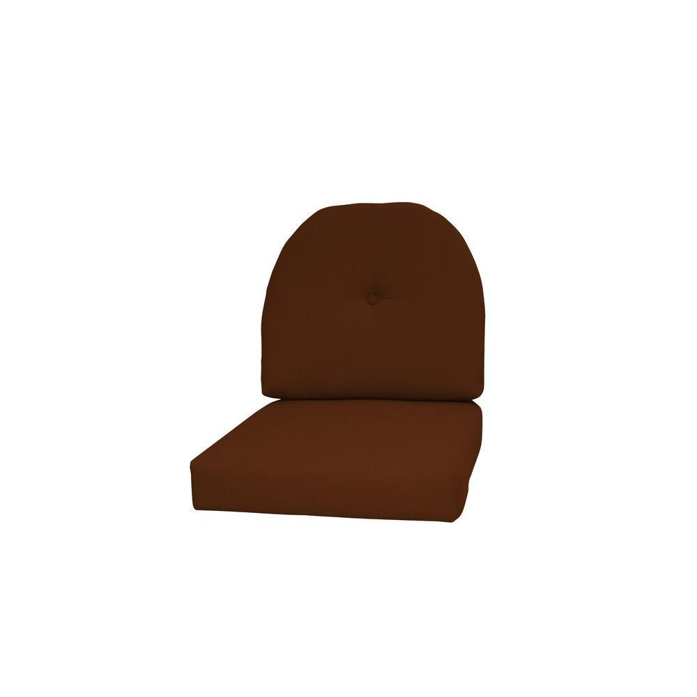Paradise Cushions Sunbrella Sierra 2-Piece Wicker Outdoor...