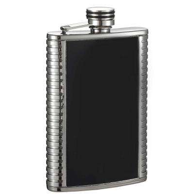 Astaire Black and Stainless Steel Liquor Flask
